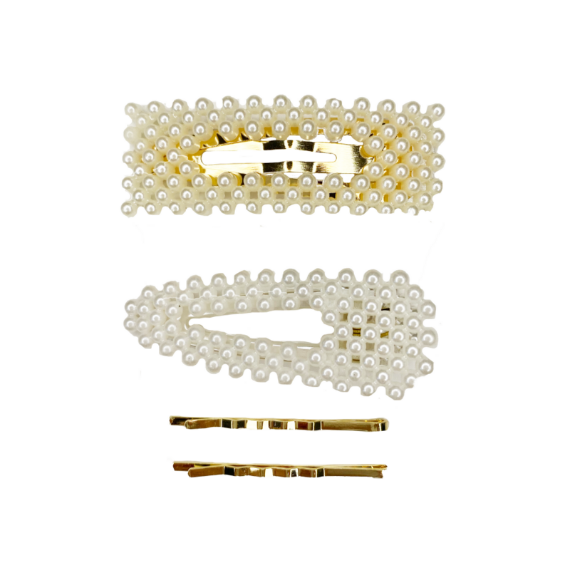 Queen Pearl Clips Set of 4