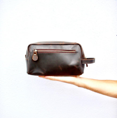 Flint Leather Co. Dopp Kit - Coffee