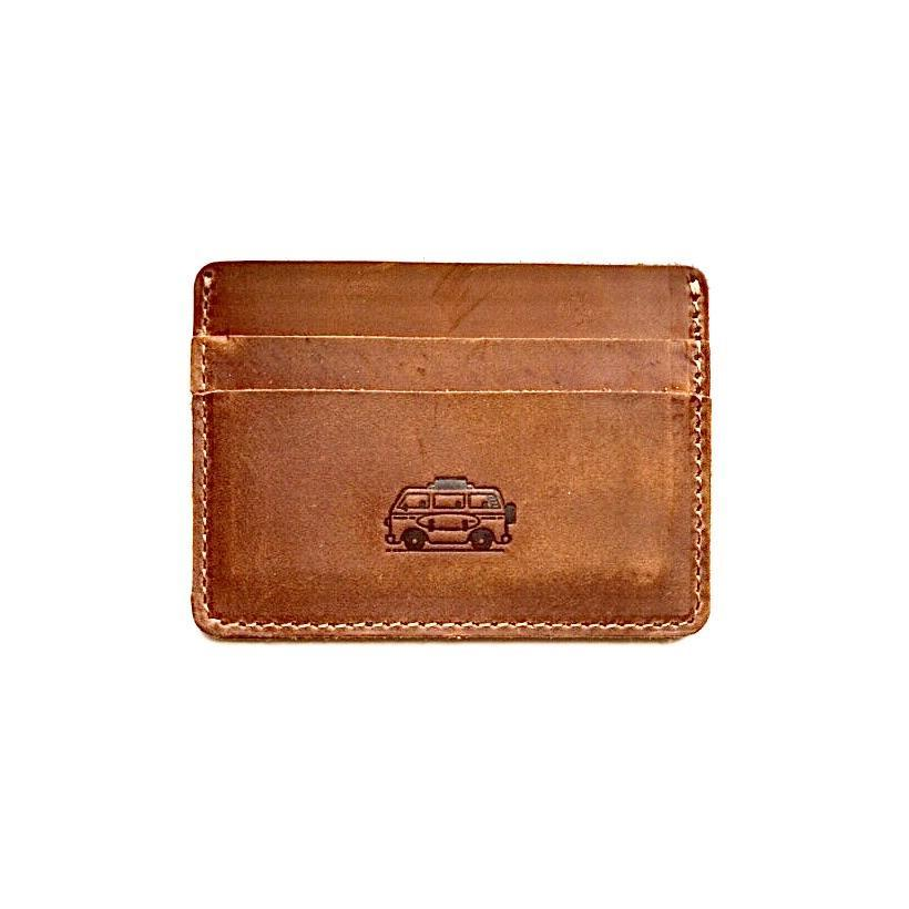 Flint Leather Co. Marlin Ultra Slim Wallet - Surf Mobile Light Brown