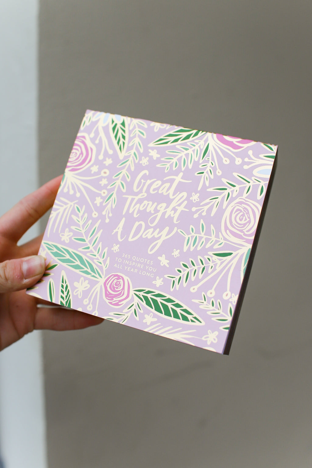 A Great Thought A Day Pink Floral Note Pad