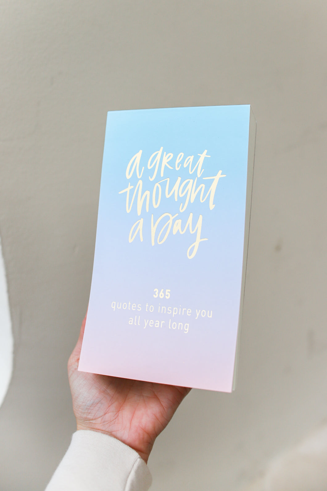 A Great Thought A Day Ombre Note Pad