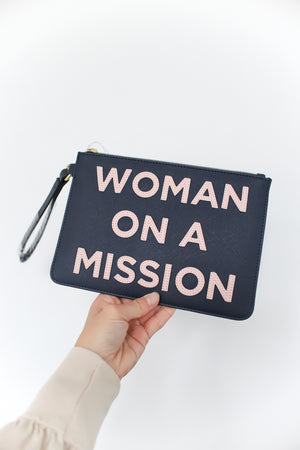 Woman On A Mission Applique Clutch
