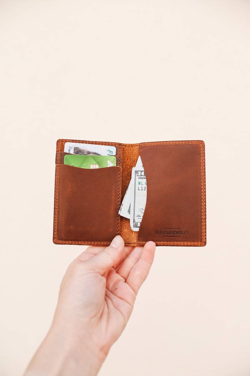 Flint Leather Co. Whiskey Wallet - Brown