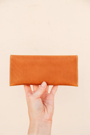 Flint Leather Co. The Cali Clutch - Light Brown