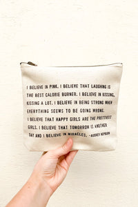 Canvas Bag -  I Believe In Pink