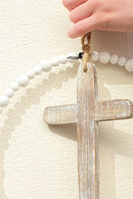 Round Wood & Metal Cross Wall Decor