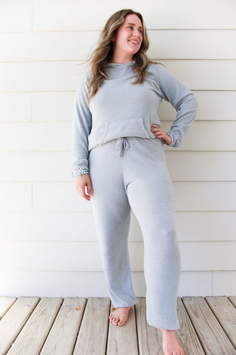 Barefoot Dreams Cozychic Ultra Lite Track Pant - Blue Water