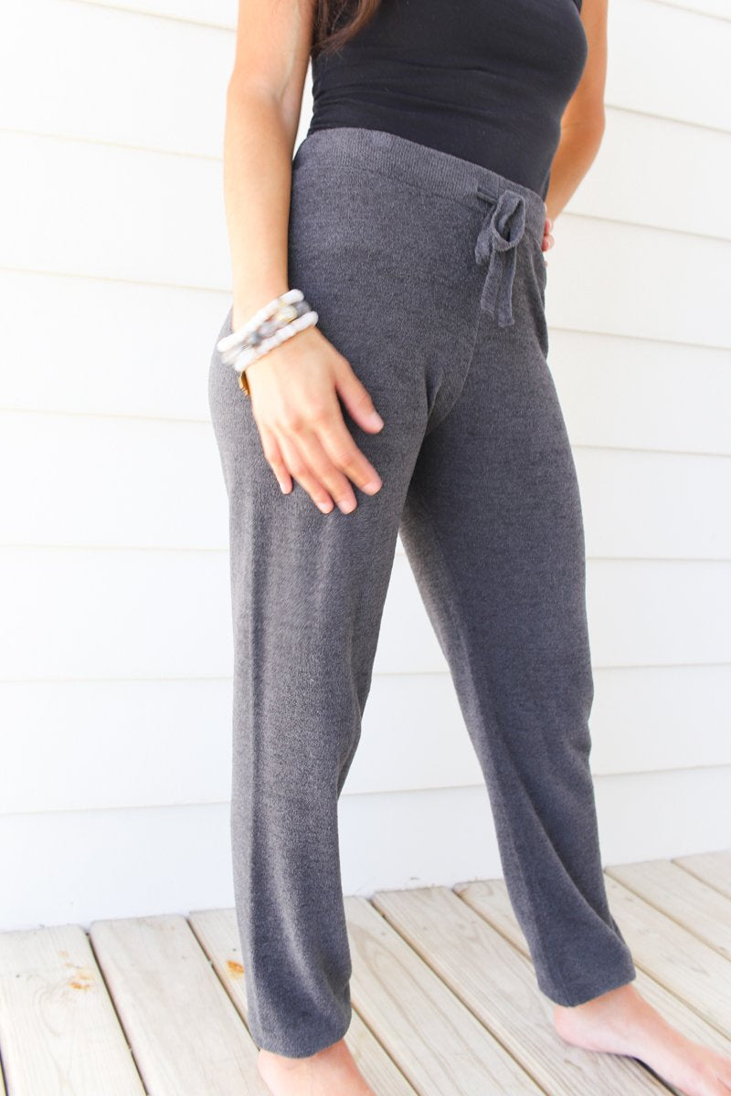 Barefoot Dreams Cozychic Ultra Lite Track Pant - Carbon