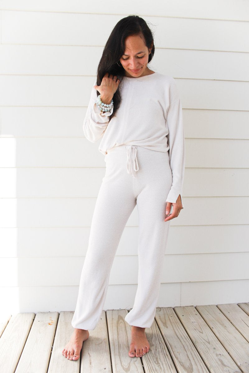 Barefoot Dreams Cozychic Ultra Lite Track Pant - Sand Dune