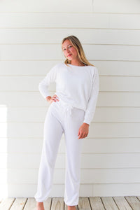 Barefoot Dreams Cozychic Ultra Lite Track Pant - Sea Salt