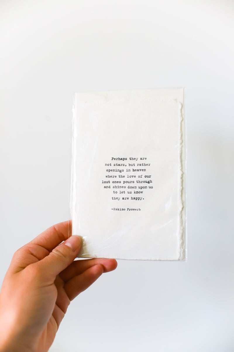 Deckled Edge Greeting Card