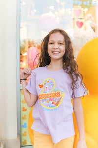Duckies Tee - Youth Orchid