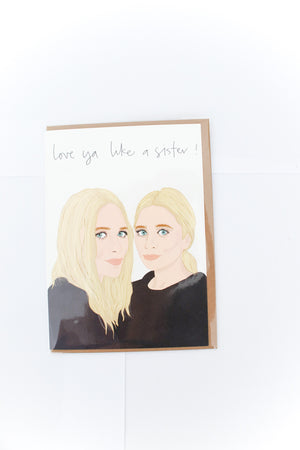 Olsen Twins Greeting Card