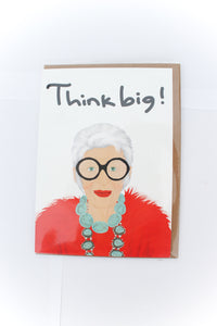 Iris Apfel Greeting Card