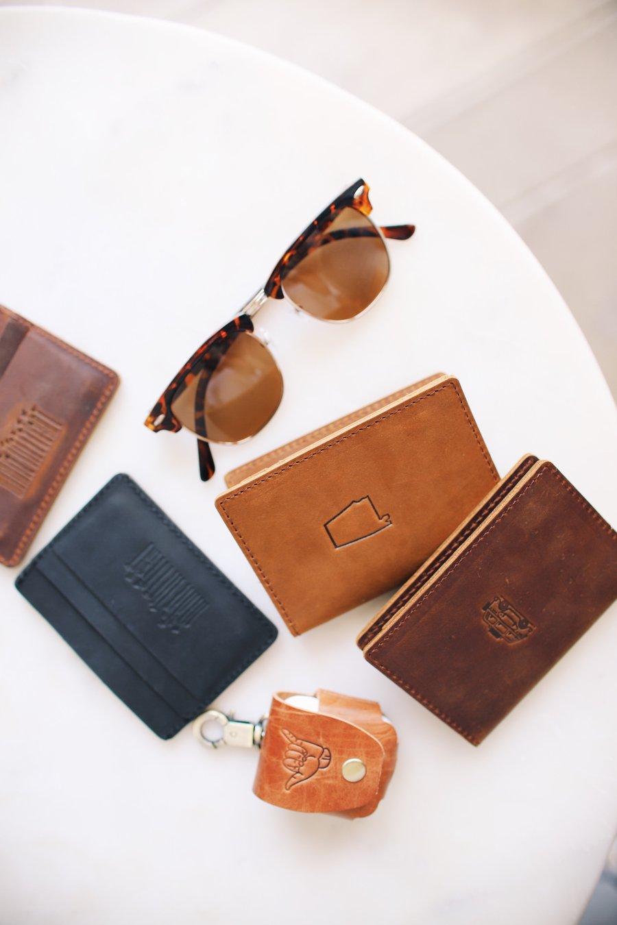 Flint Leather Co. Whiskey Wallet - Alabama Brown