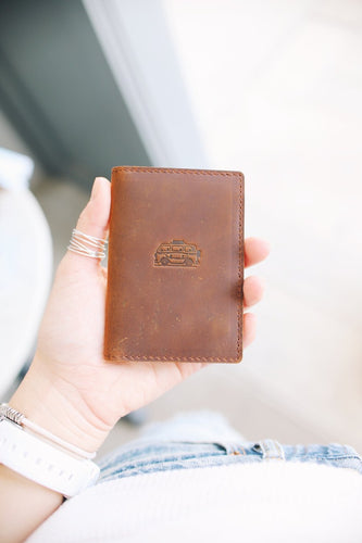 Flint Leather Co. Whiskey Wallet - Surf Mobile Brown