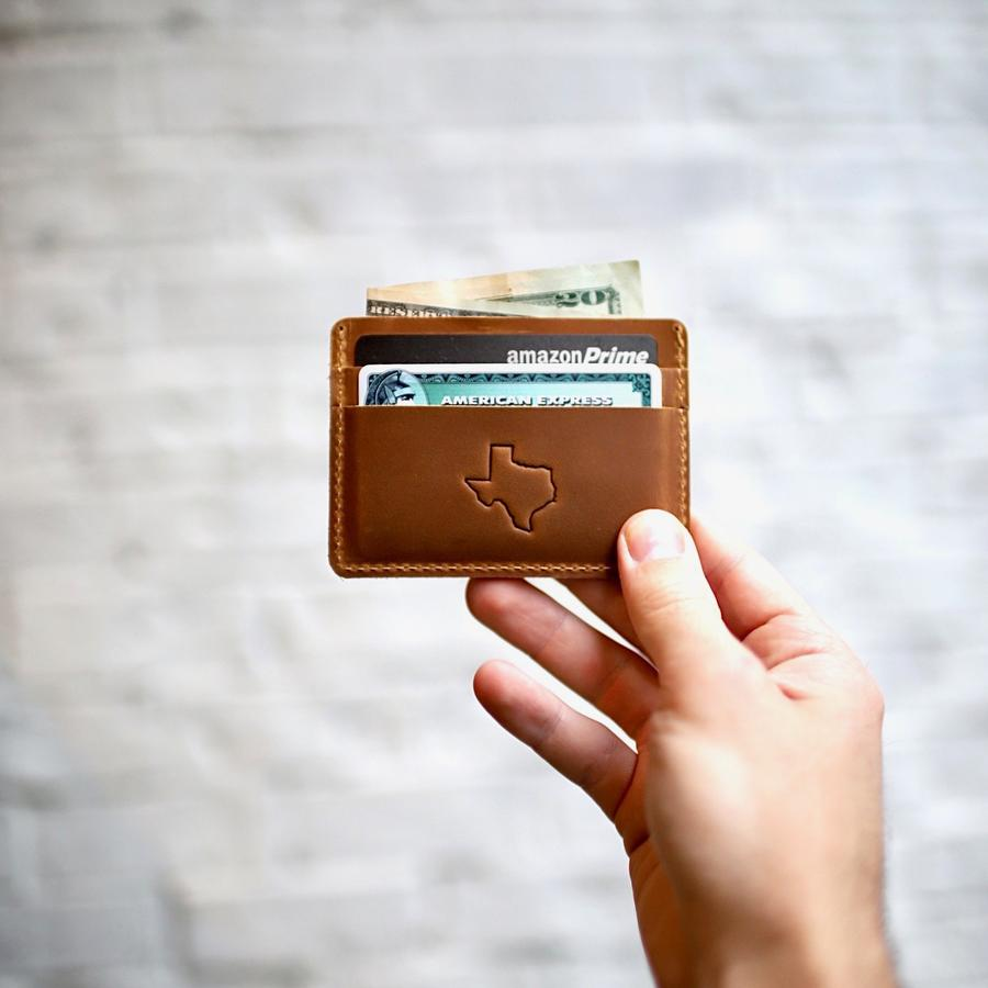 Flint Leather Co. Marlin Ultra Slim Wallet - Texas Brown