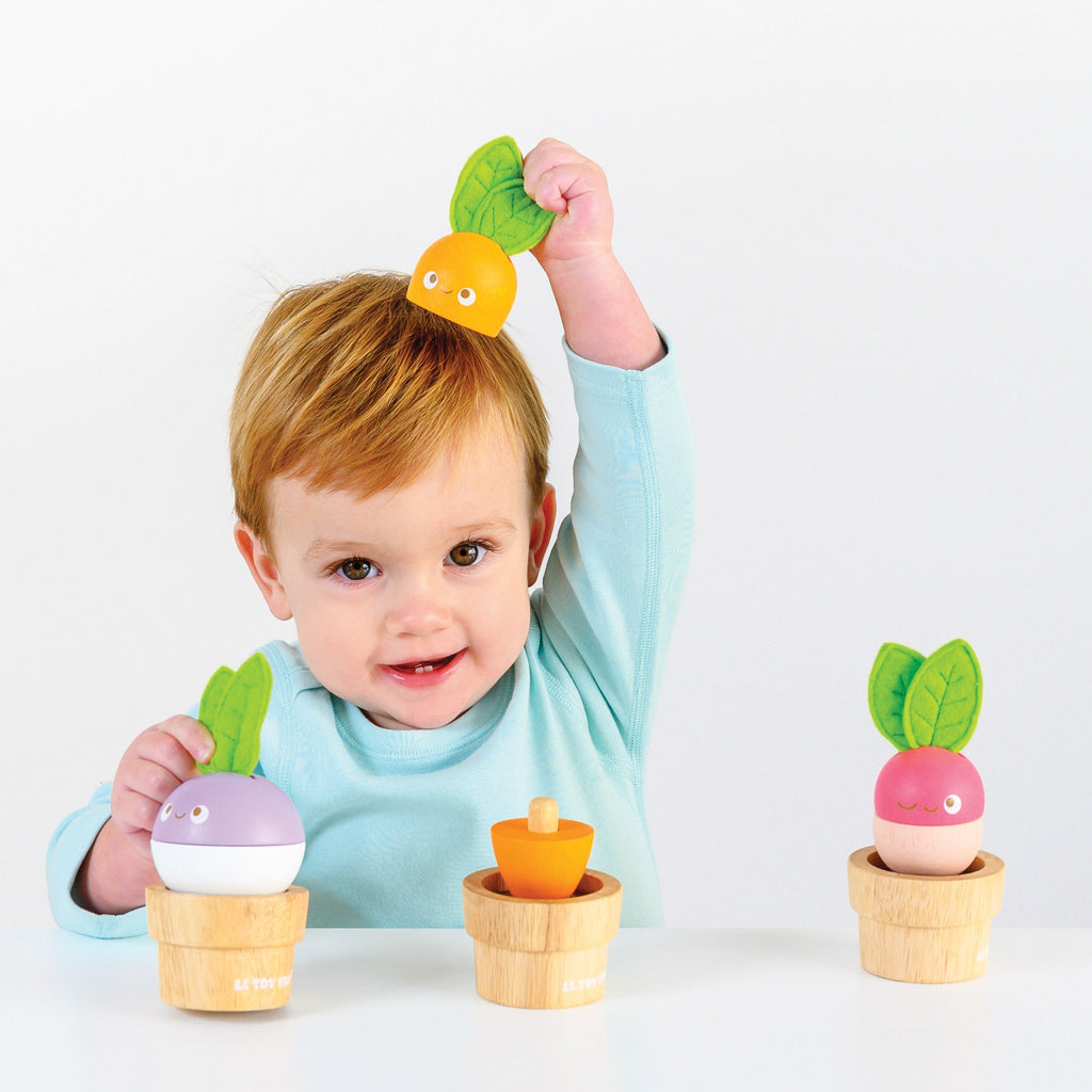 Wooden Stacking Veggies
