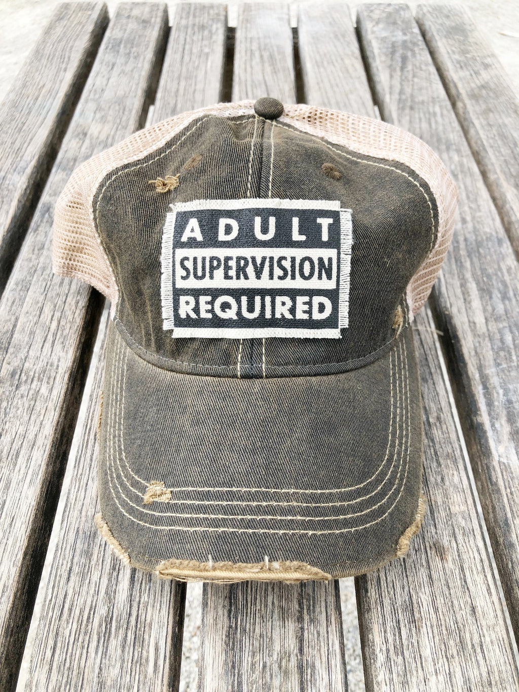 Adult Supervision Required Trucker Cap