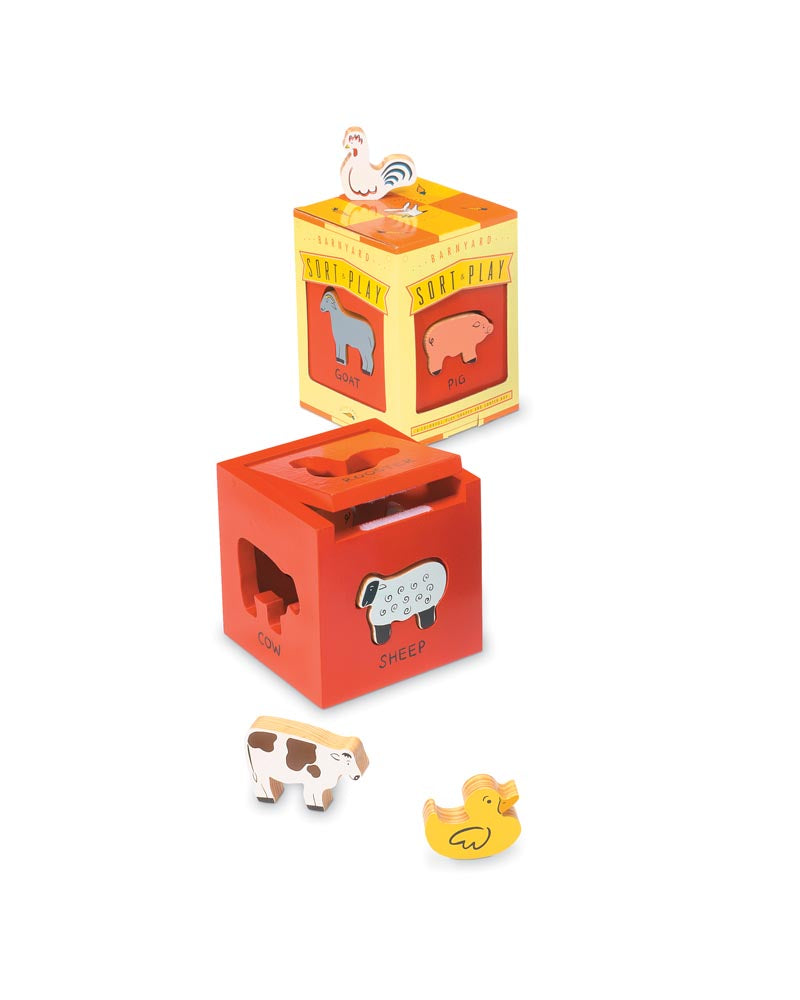 Barnyard Sort & Play Wooden Toy