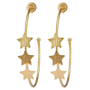 Silvina Star Hoops - Gold