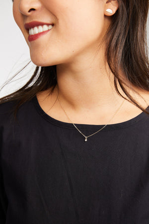 Able Stella Drop Necklace Silver