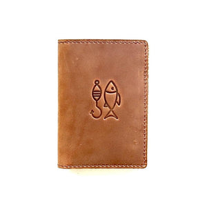 Flint Leather Co. Whiskey Wallet - The Fisherman Brown
