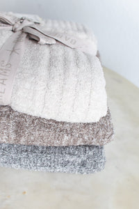 Barefoot Dreams Heathered Cable Blanket - (3 Colors)