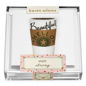 Enclosure Cards in Acrylic Box - Coffee