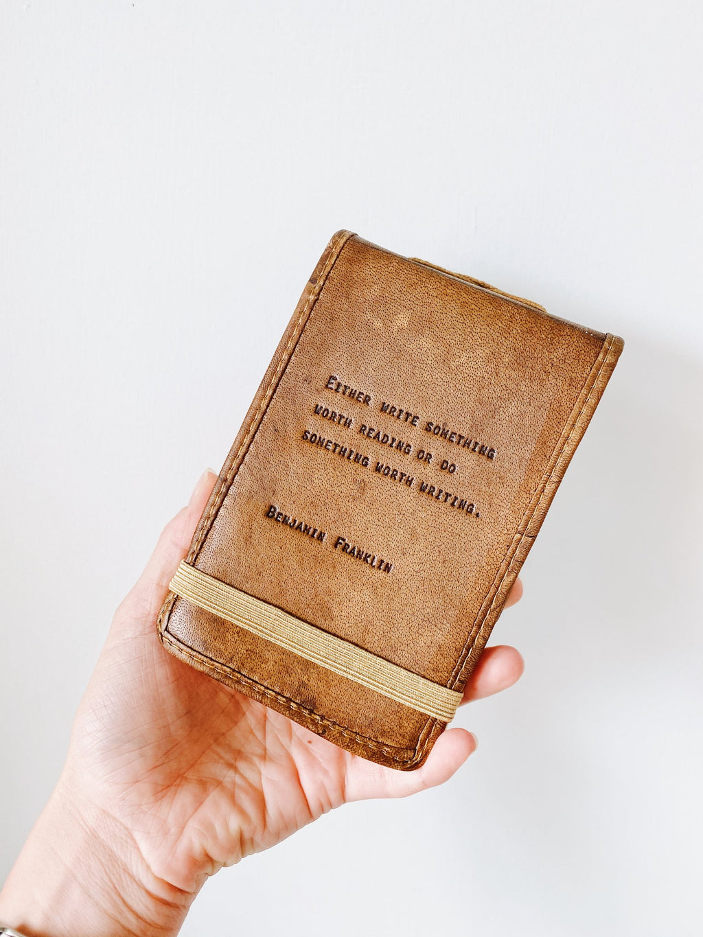 Leather Journal Benjamin Franklin