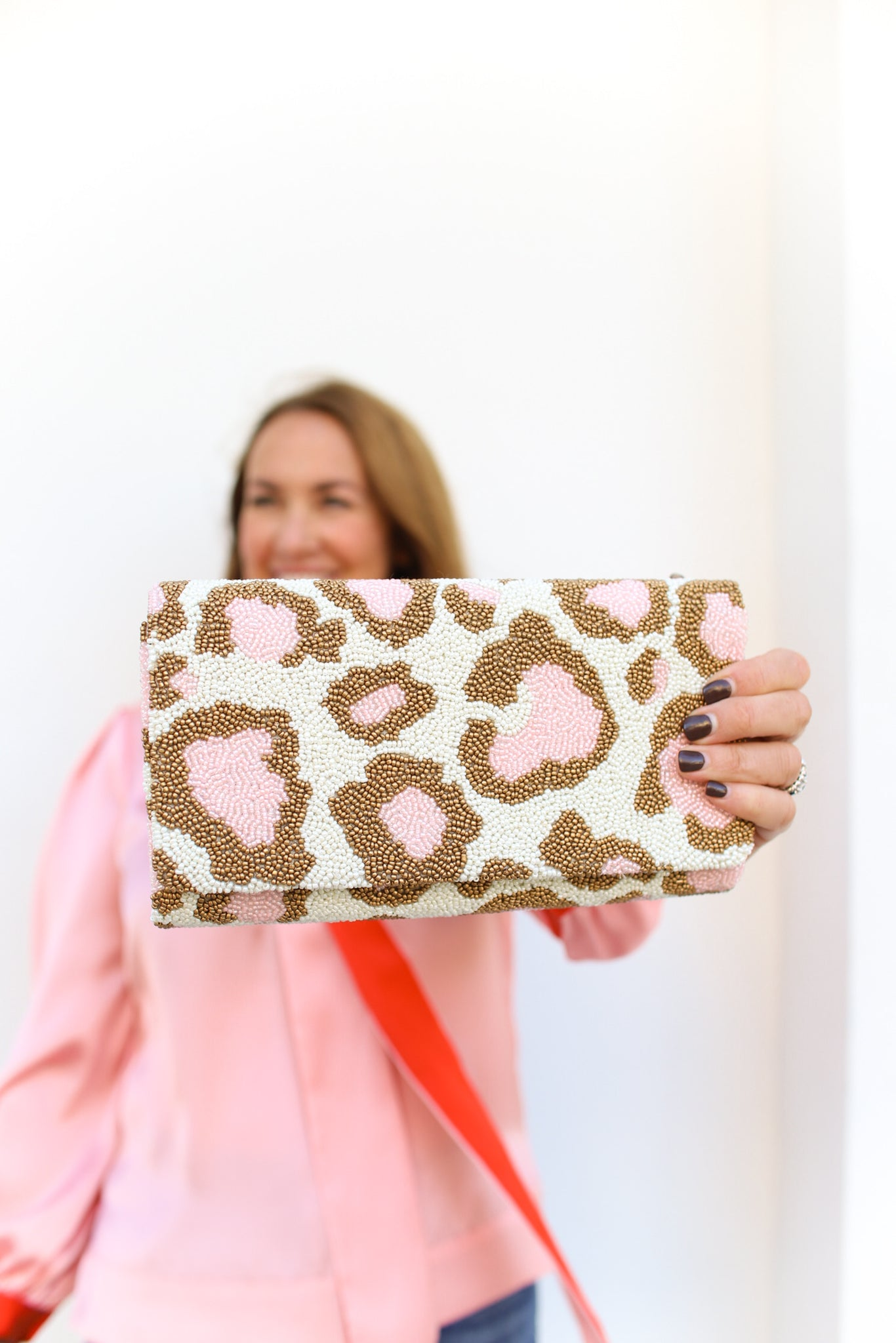 Blush Leopard Clutch