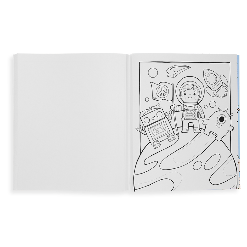 Color In Book Outer Space Explorer