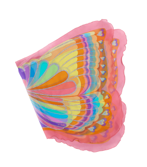 Wings Pink Rainbow Butterfly
