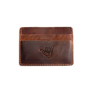 Flint Leather Co. Marlin Ultra Slim Wallet - Shocka