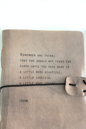 Grey Leather Journal Osho