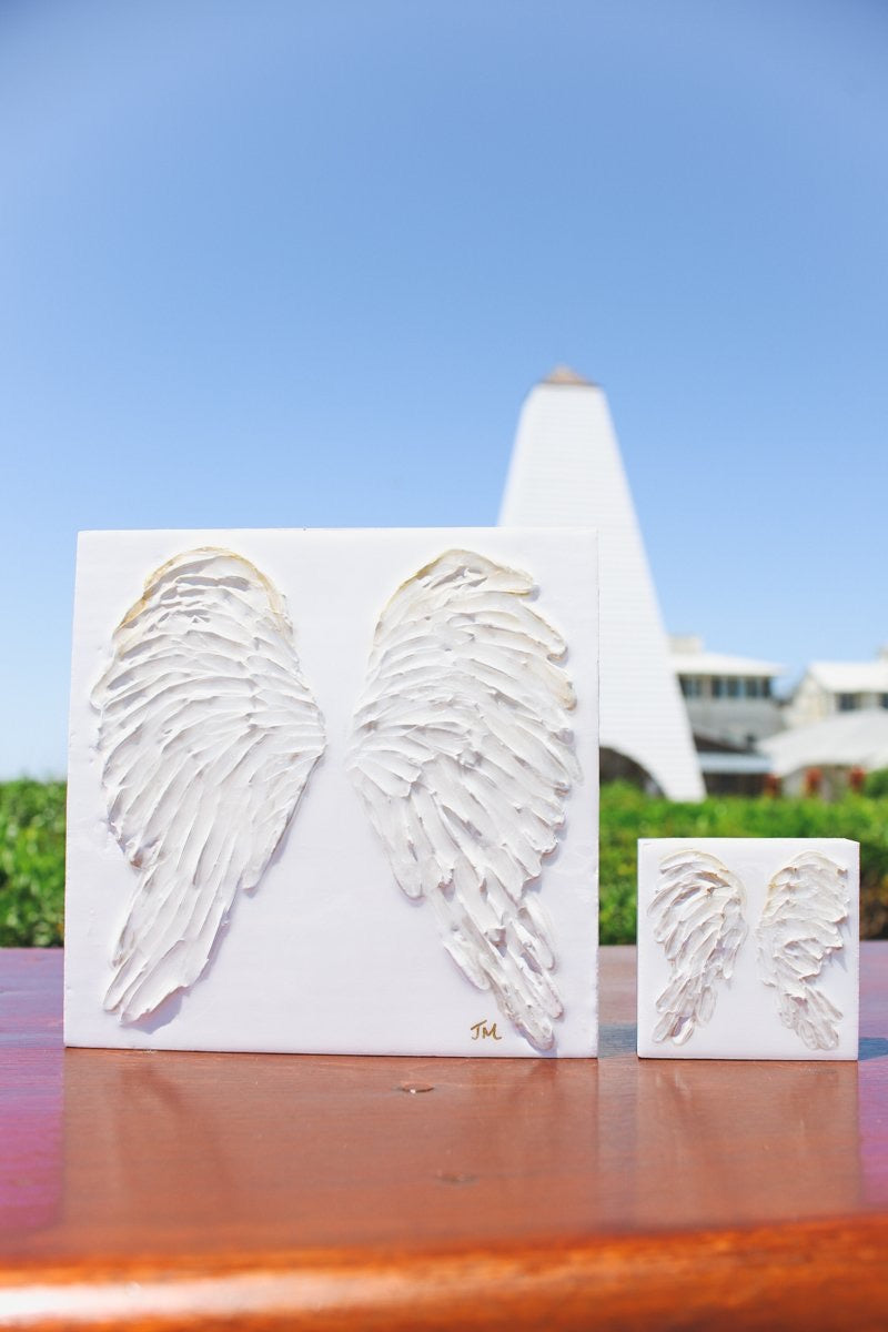 Large Angel Wings Painting - 10x10