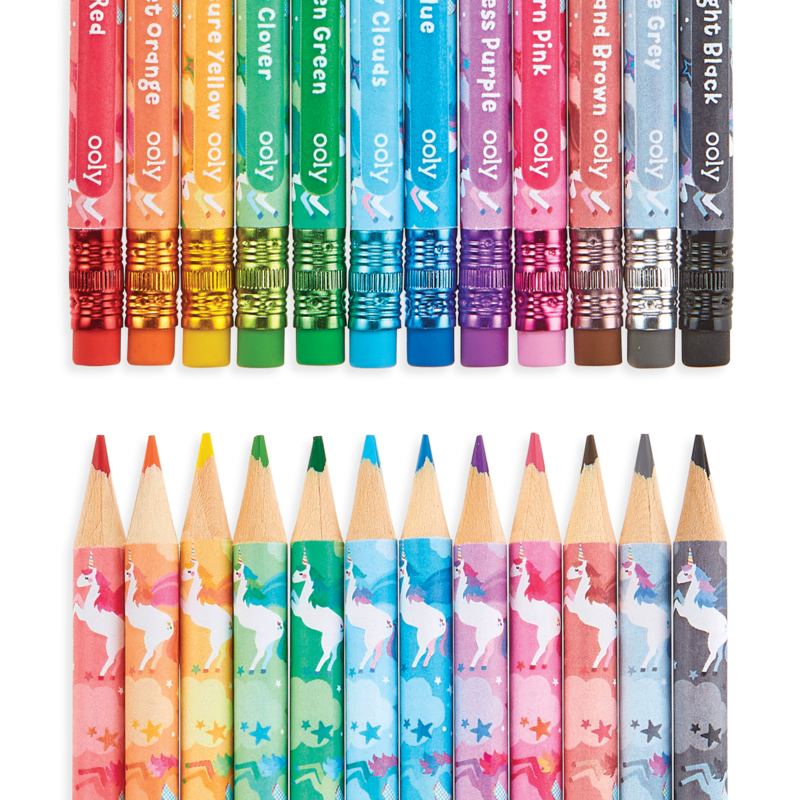 Unique Unicorns Erasable Colored Pencils