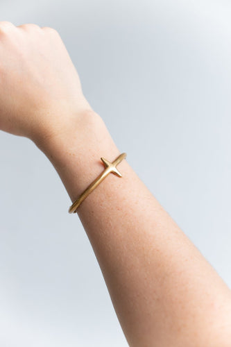 Gold Cross Bangle