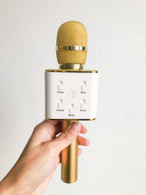 Wireless Karaoke Microphone - Gold