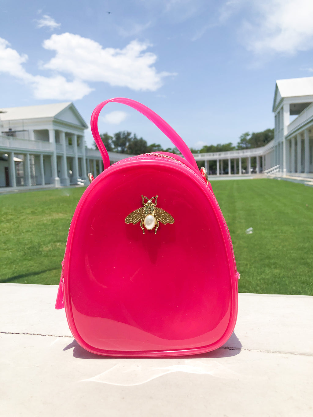 Jelly Bee Crossbody - Hot Pink