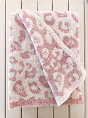 Barefoot Dreams Cozychic Baby Blanket Barefoot In The Wild - Dusty Rose