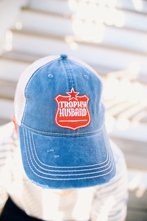 Trophy Husband Cap - Navy