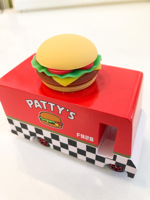 Candylab Wooden Patty`s Hamburger Van