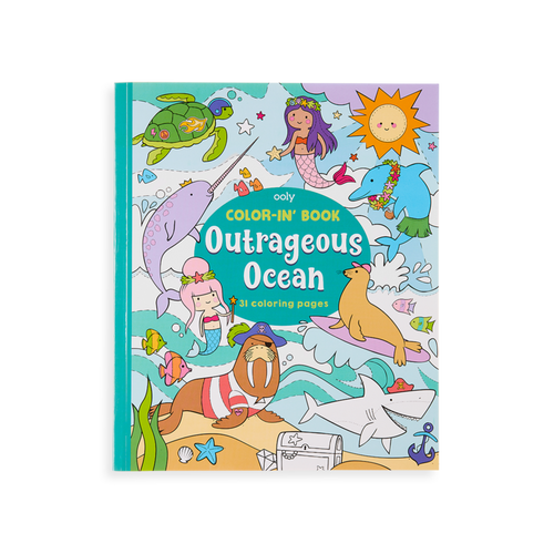 Color In Book Outrageous Ocean