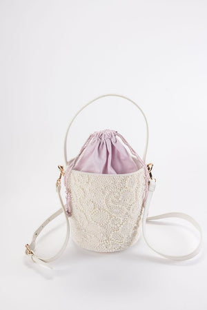 Ady Pearl Embroidered Bucket Bag