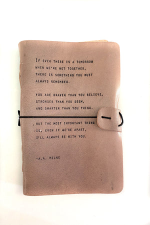 Grey Leather Journal A.A. Milne