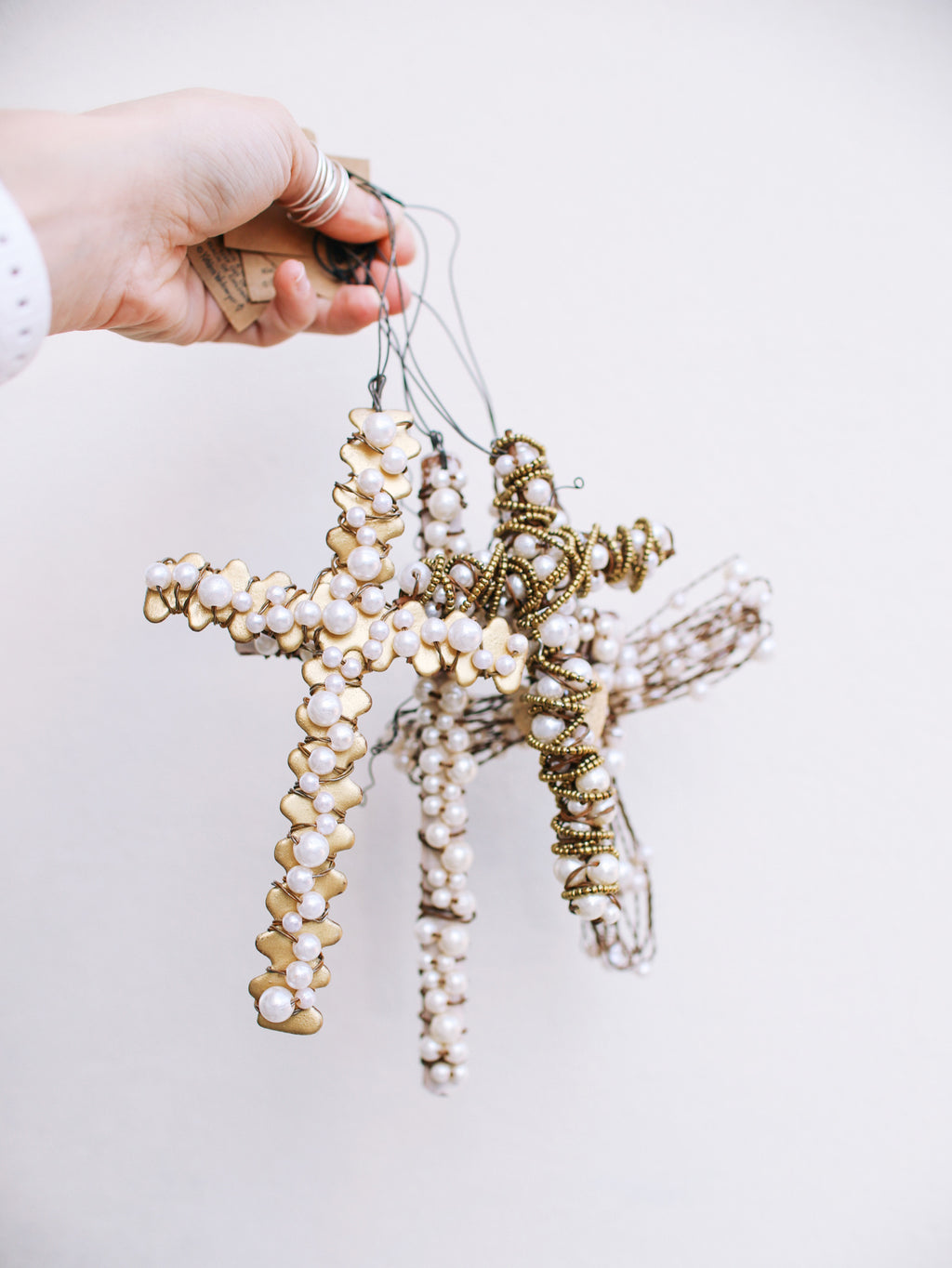 Metal Wire Cross Ornament