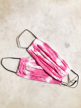Gauze Tie Dye Face Mask 2 Pack - Pink
