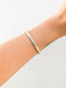Be Still & Know Sterling Silver Cuff