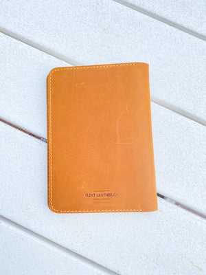 Flint Leather Co. Rocky Mountain Pocket Journal Wallet - Saltwater Scene